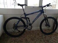 Kona Dawg Deluxe ,full suspension mountain bike