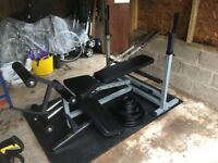 Olympic weight set and multi bench fitness centre