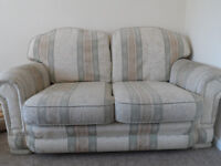 SOFA BIG TWO SEATER SOFA FABRIC EXCELLENT GOOD CLEAN CONDITON PATTERNED DESINGN BURY DELIVER LOCAL
