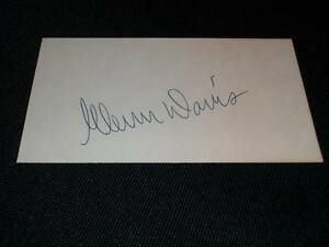 Olympic-Track-Field-HOF-Glenn-Davis-Auto-Signed-Vintage-3x5-Index-Card-M7