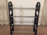 Moving sale: Black and metal shoe rack