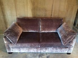 Luxurious velvet sofa