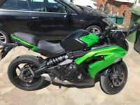 KAWASAKI ER6F GREAT CONDITION ABS NEW TYRES MICHELLINE 3499POUNDS !!
