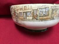 Antique Royal Doulton Dickensware footed bowl