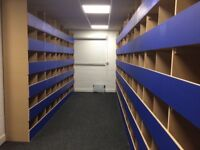 industrial shelving small parts storage mdf binning timber storage units