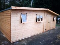 22FT X 10FT APEX HEAVY DUTY STORAGE/GARDEN SHED FULLY ASSEMBLED