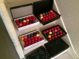 4 sets of Snooker balls