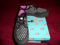 Babycham Black/Pink/White Starry Flatform Shoes UK5/EU38