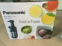 Panasonic MJ-L500 Silver Juice extractor - very good condition with initial packaging & instructions