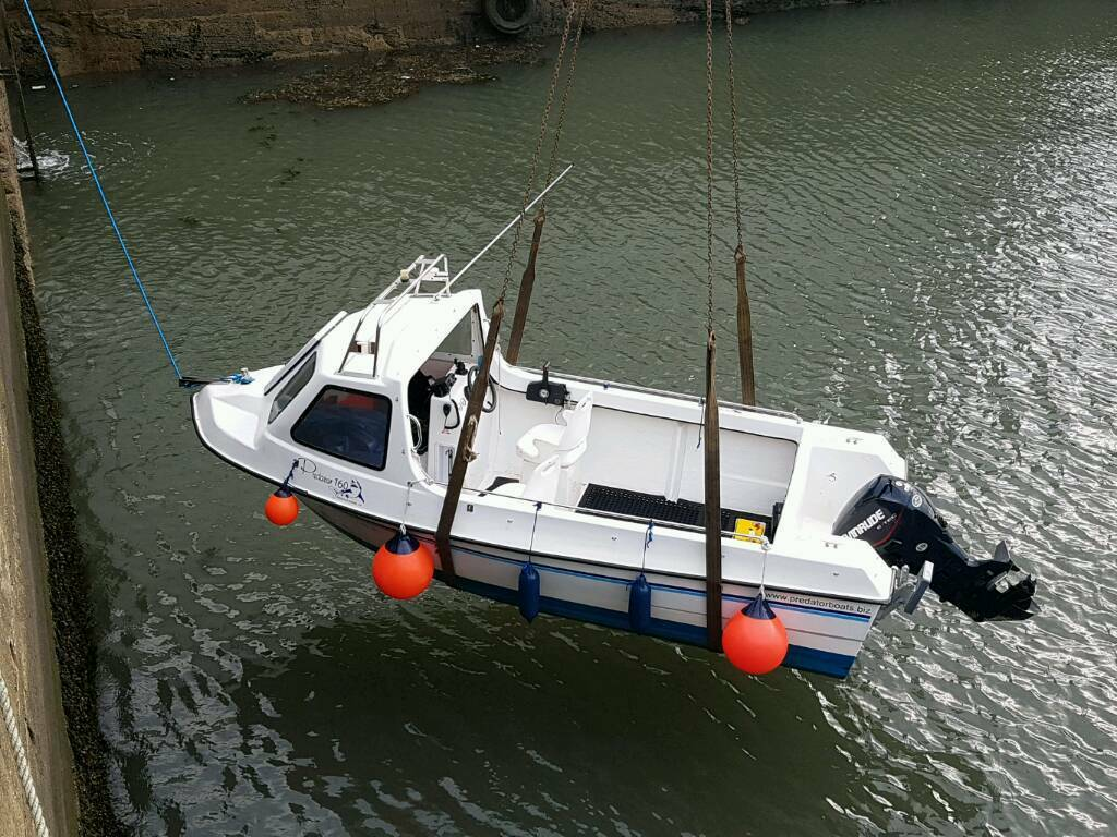 Predator Fishing Boat And Trailer In Kirkcaldy Fife