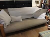 3 seater solid wood sofa bed Vienna by Futon company, very good condition