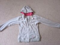 Girls Age 10 Pumpkin Patch Grey Velour Hoodie New with Tags