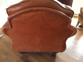 Vintage quirky leather armchair