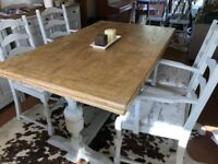 Beautiful Farmhouse Dining Table & Chairs