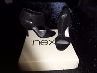 Black sequin shoes - size 6 - new in box - £15