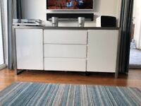 White high gloss large sideboard