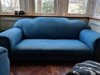 3 seater Sofa and two armchairs (1950's)