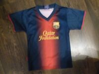 BARCELONA HOME SHIRT SIZE 6-7 NEW CONDITION