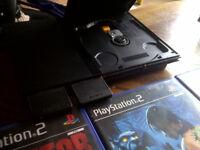 PS2 Slim Black, 1 controller, 10 Top Games