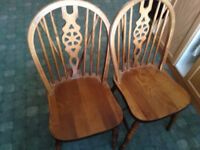 4 X dinning chair retro mid century in oak wood ercol style