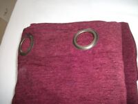ONE PAIR OF BRAND NEW LINED CURTAINS EYELET HEADING, 90 ins wide by 72 ins drop,