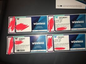 3 Day Wireless Ticket - £400 Urgent Sale - Pick Up From London