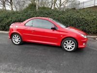2005 Peugeot 206 Allure Coupe – Full 12 months MOT, Only 62k miles, Super condition, Leather seats
