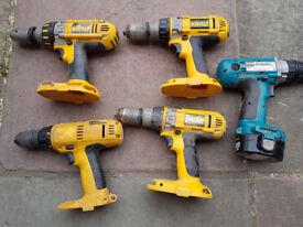 Job lot of cordless drill bodys