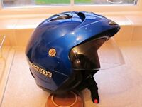 Metallic Blue Takachi TK10 Motorcycle/Scooter Helmet, Open Face, Little used, very good condition