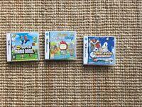 NINTENDO DS games, Sonic Rush, New Super Mario Bros & Super Scribble