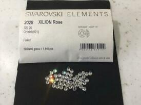 Swarovski ss20 hot fix glue on the back clear crystals 10 gross =1440 pieces