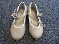 Size 9 (infant) tan tap shoes