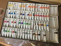A selection of Winsor and Newton Gouache Paints