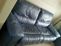 Leather 3 piece suite ( reclining )