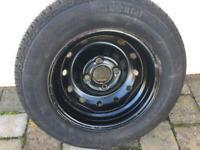 New continental tyre on wheel rim 165/70 R13
