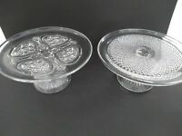 Glass cake stands 2 available wedding