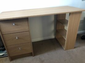 Computer Desk with 3 Draws and 3 Shelves