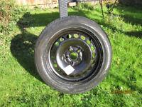 VW Passat SEAT, Skoda, Audi 5 stud spare car wheel with new tyre 205/55R16 9IV