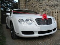 Bentley GT Chauffeur Wedding Car Hire, Special Occasions, Corporate and Events.