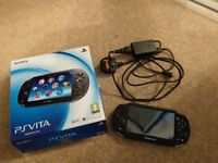Ps Vita with case ,8gb memory card + charge