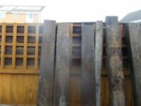 Wooden garden posts ideal for use for fences, gates or for allotments