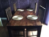 Beautiful dining table and chairs/quick sale due to moving house/must collect