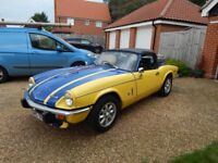 1973 triumph spitfire for .owned it since 2003. engine rebuilt no more then 3000 miles done in it