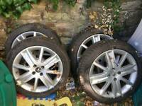 4x 205/50 17 Tyres and alloys
