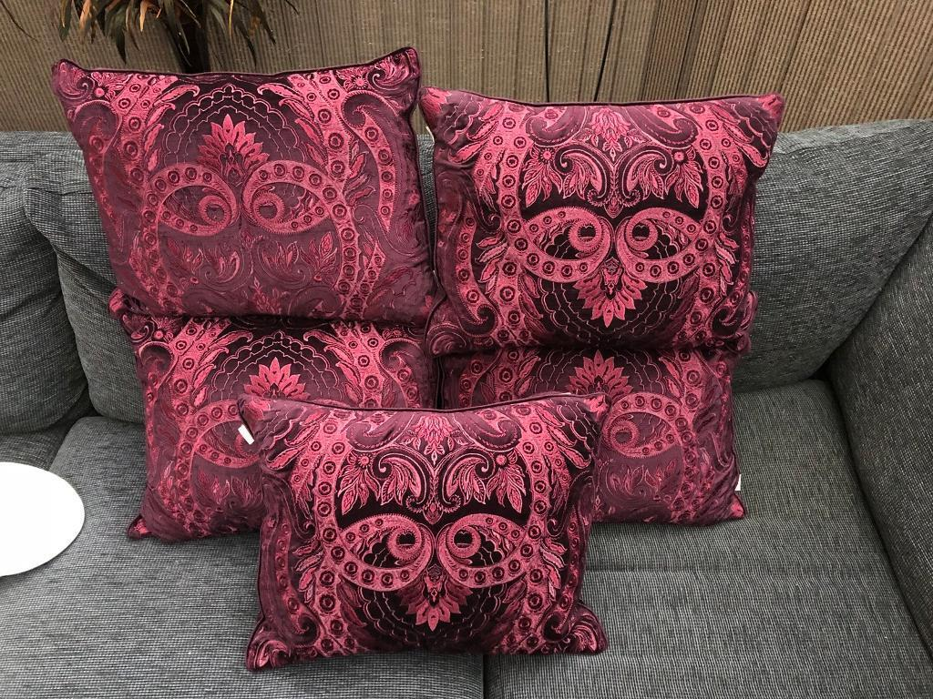 Set of 5 Dorma feather filled cushions