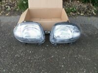 Renault Clio Mk2 Headlights, from year 2000 (W Reg) car but only 1 year old