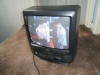 PORTABLE TV AND VIDEO COMBI. 14 INCH SCREEN.