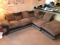 Brown/beige Corner Sofa