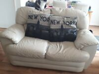 3 piece leather reclining sofa x2 and chair