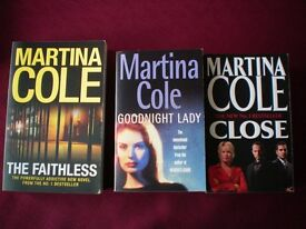 COLLECTION OF MARTINA COLE BOOKS IN EXCELLENT CONDITION